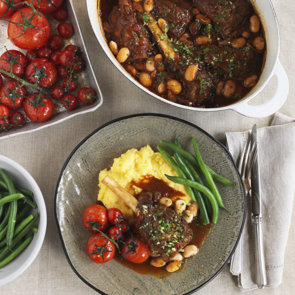 Braised Lamb Shanks and Gremolata