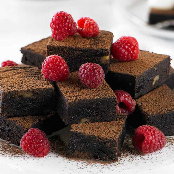 Dark Chocolate Slice with Pitted Prunes & Walnuts