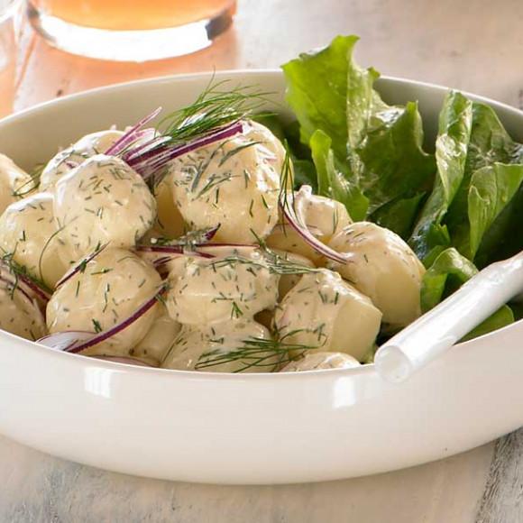 New Potato Salad with Fresh Dill & Sour Cream