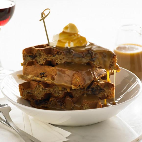 Sticky Date with Butterscotch Sauce Waffle