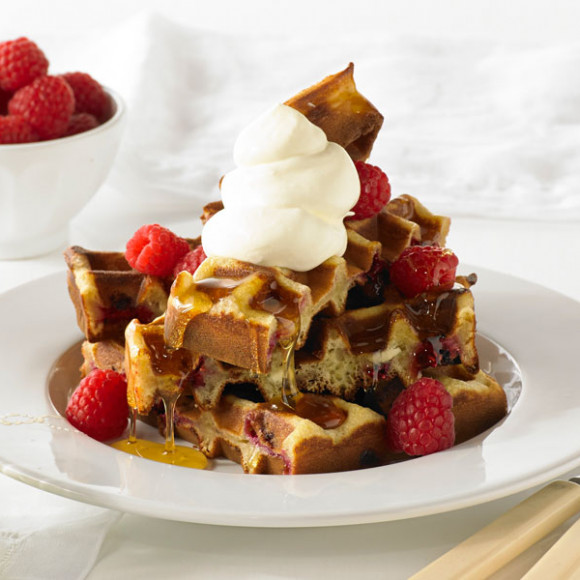 White Chocolate and Raspberry Waffle