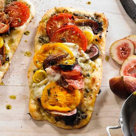 Tomato, Basil & Fig Pizza