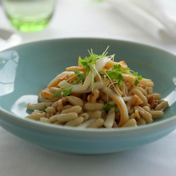 Sardinian Calamari Pasta with Preserved Lemon and Toasted Walnuts