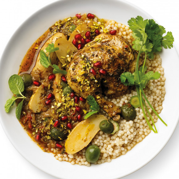 Chermoula Chicken and Green Olive Tagine