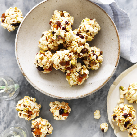 Fruit and Nut Popcorn Balls