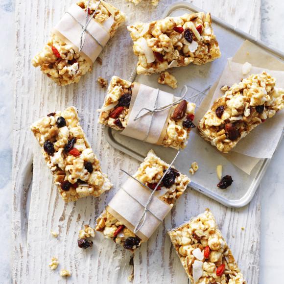 Popcorn Coconut Slice