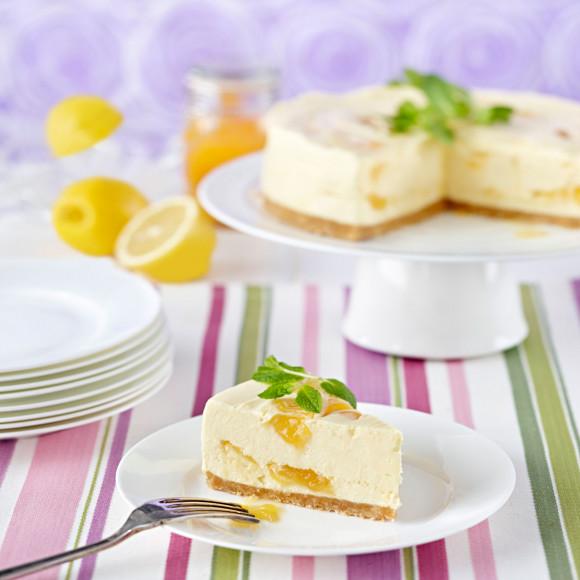 White Chocolate and Lemon Swirl Cheesecake