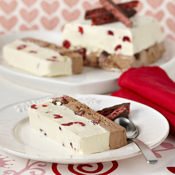 Cherry Ripe Ice Cream Terrine