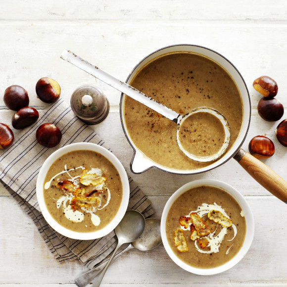 Hearty Chestnut and Mushroom Soup Recipe
