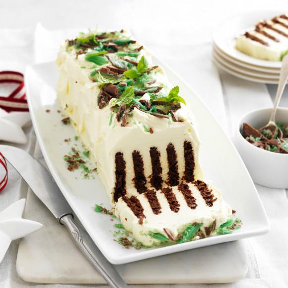 Chocolate mint ripple cake