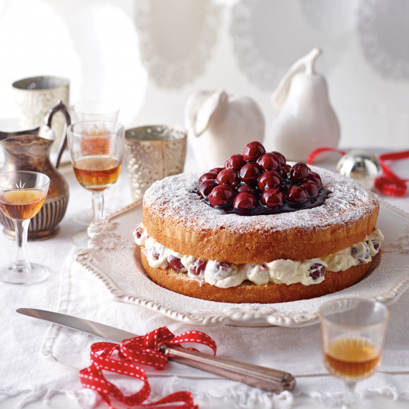 Victorian Tea-Cake with Cherry Cream Filling