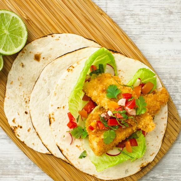 Golden Fish Taco's with Fresh Tomato Salsa