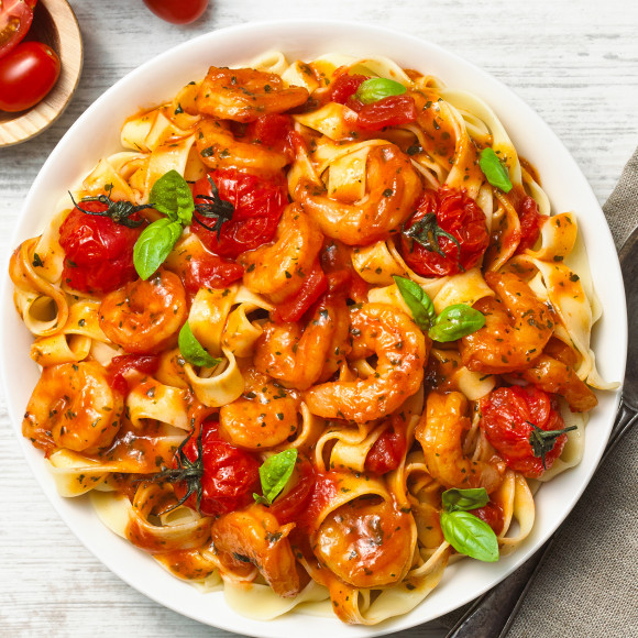 Italian Prawn Tomato Tagliatelle
