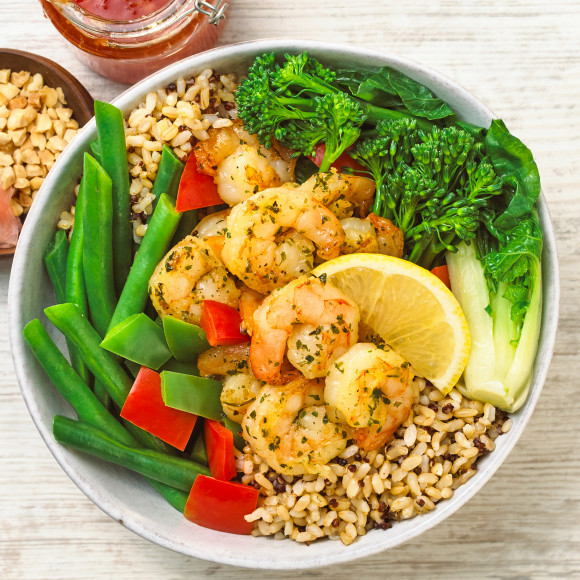 Prawn Buddha Bowl Recipe