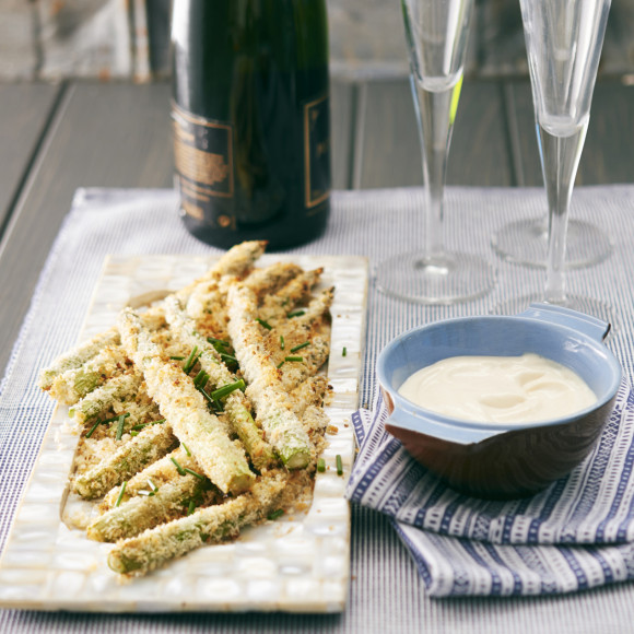 Crunchy aioli asparagus recipe myfoodbook finger food recipe forumfinder Image collections