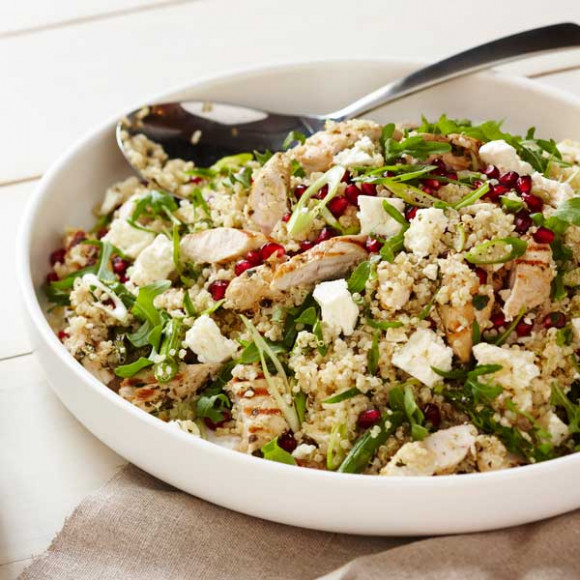 Quinoa, Chicken and Feta Salad Recipe | myfoodbook ...