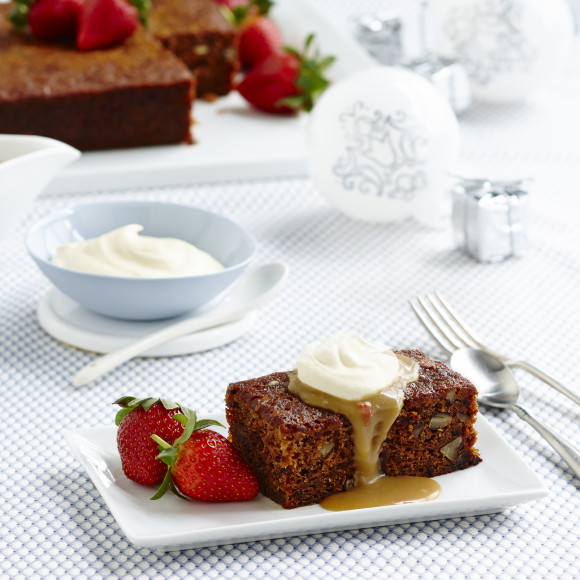 Sticky Date And Pecan Pudding With Chilli Ginger Butterscotch Sauce