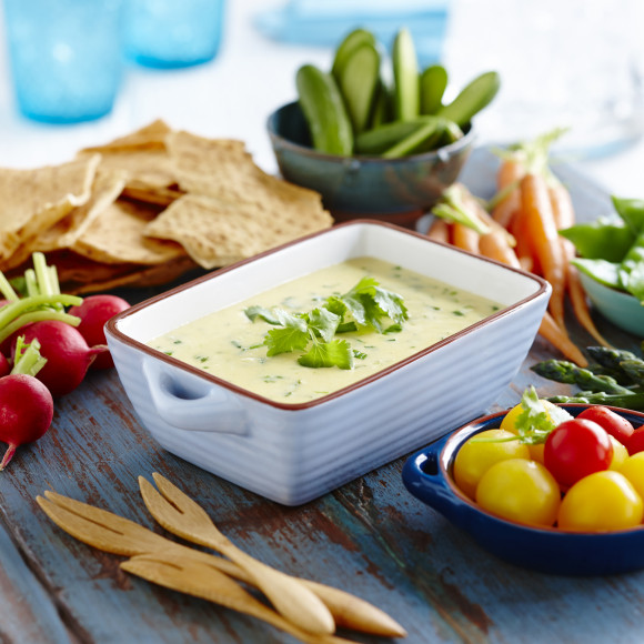 Warm Mexican Cheddar and Coriander Dip