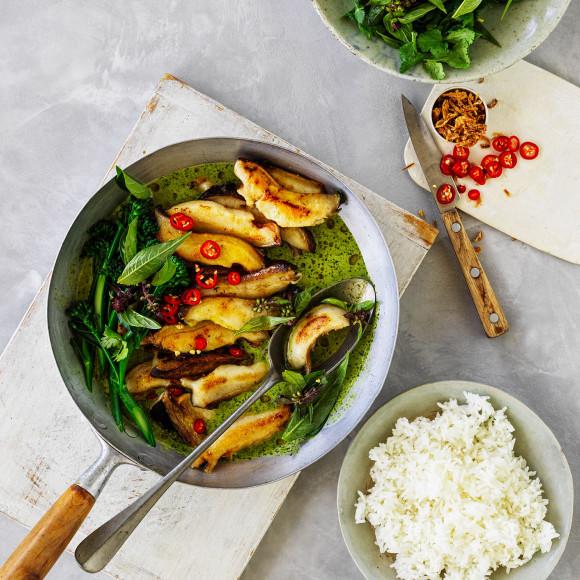 Australian Abalone recipe in Green Curry