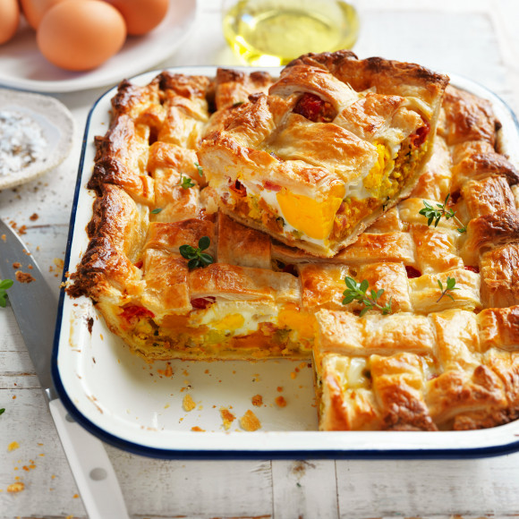 Egg Bacon and Vegetable Pie recipe