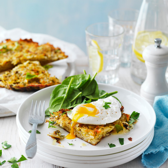 Poached Eggs with Potato Rosti