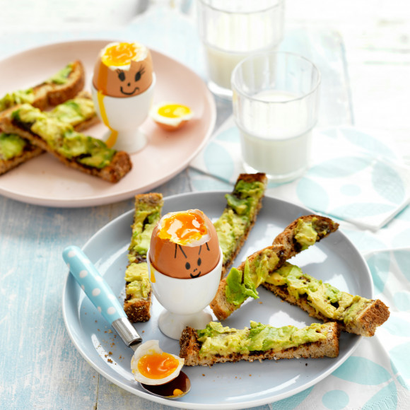 Funny Face Soft Boiled Eggs With Avocado And Vegemite Soldiers Recipe