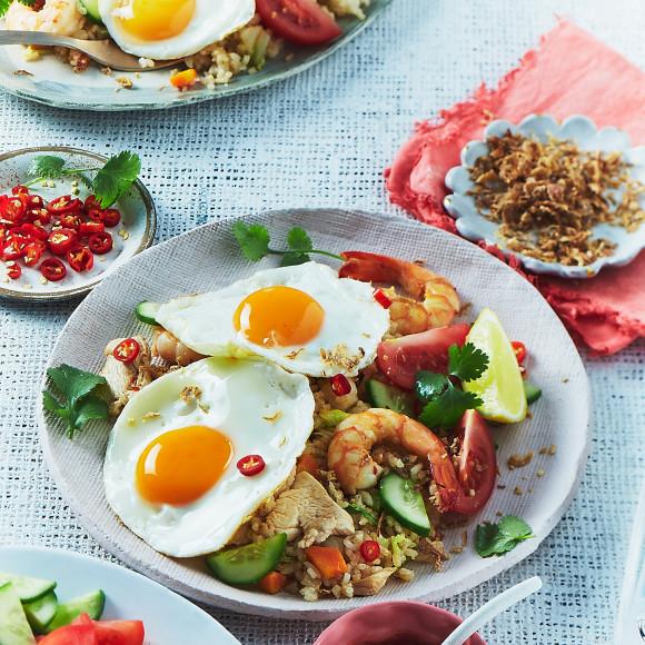 Nasi Goreng with Fried Eggs