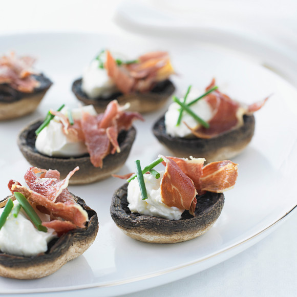 Baked Mushrooms with Prosciutto