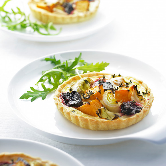 Roasted Vegetable Tart Recipe | myfoodbook