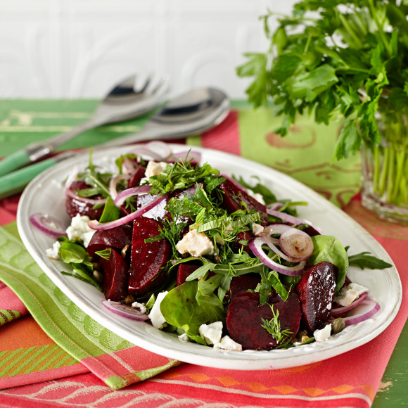 Beetroot and Red Onion Salad with Feta