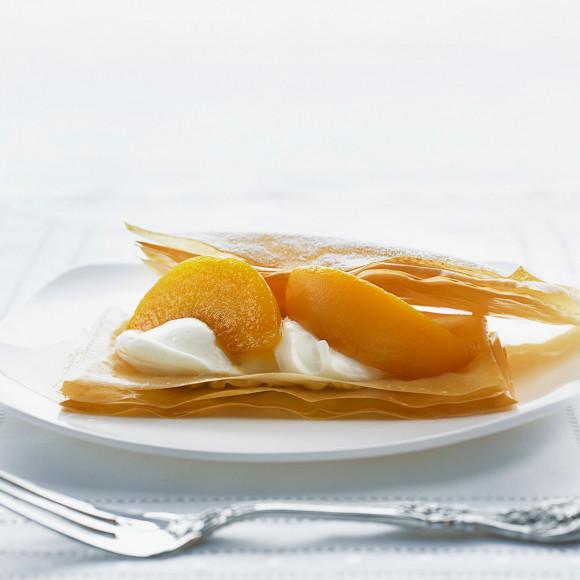 Delicate Peach and Filo Dessert