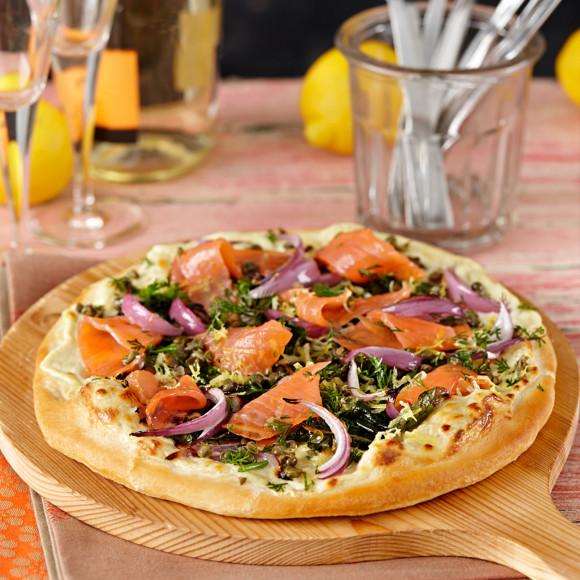 Make Wolfgang Puck's Smoked Salmon Pizza at Home - YouTube