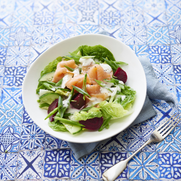 ZOOSH Light Lunch Smoked Salmon and Beetroot Salad