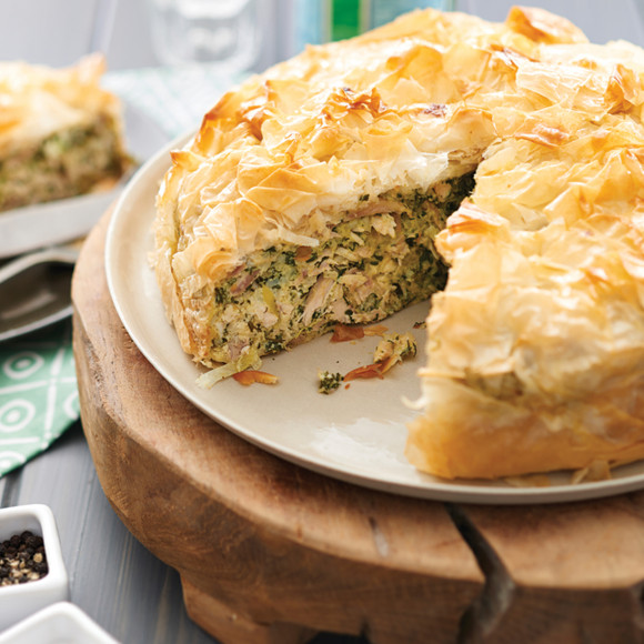 Chicken and Spinach Filo Pie