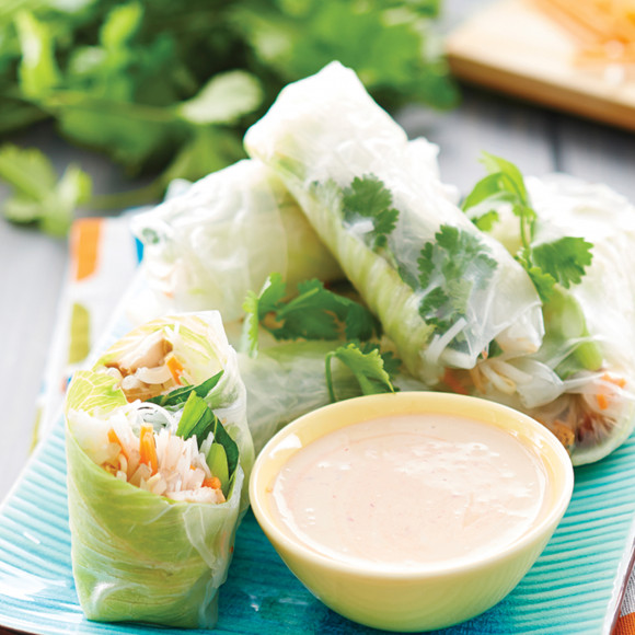 Roast Chicken Rice Paper Rolls