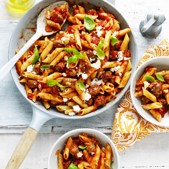 Tomato and Italian Sausage Penne