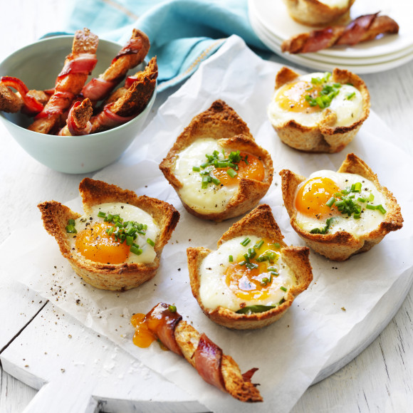 Egg Cups With Bacon Dippers Recipe Myfoodbook How To