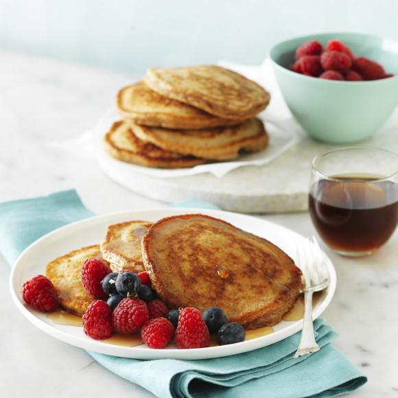 Weet Bix Pancakes with Berries and Yoghurt