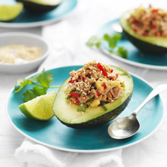 Tuna Stuffed Avocado lunch recipe