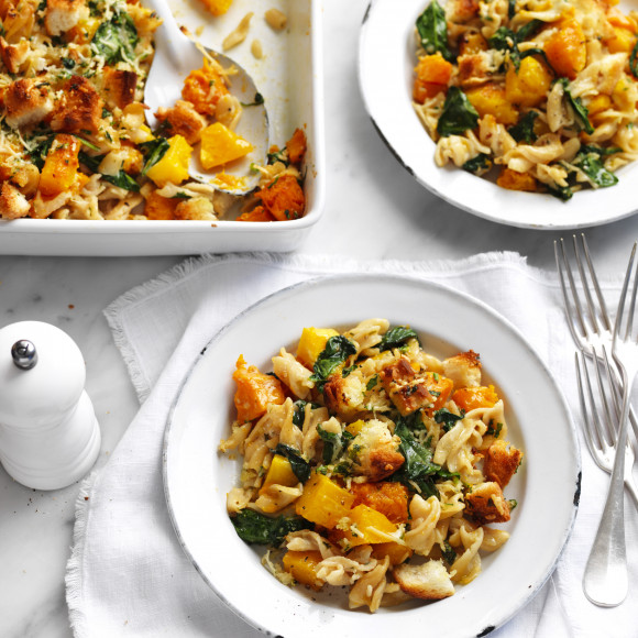 Pumpkin and spinach crunchy topped pasta bake recipe myfoodbook pumpkin and spinach crunchy topped pasta bake recipe myfoodbook continental pasta and sauce recipes forumfinder Gallery