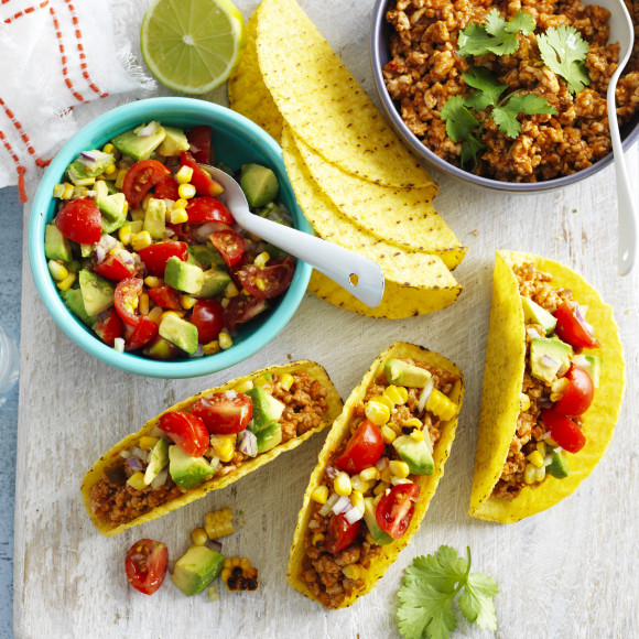 Chicken and Fresh Salsa Tacos
