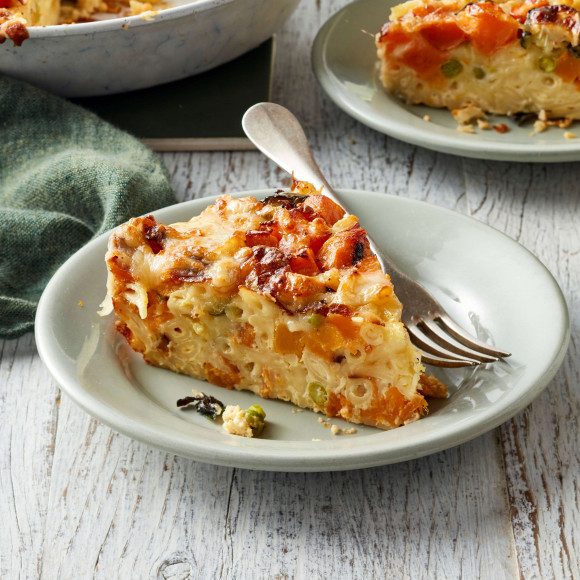 Impossible pasta pie with vegetables recipe