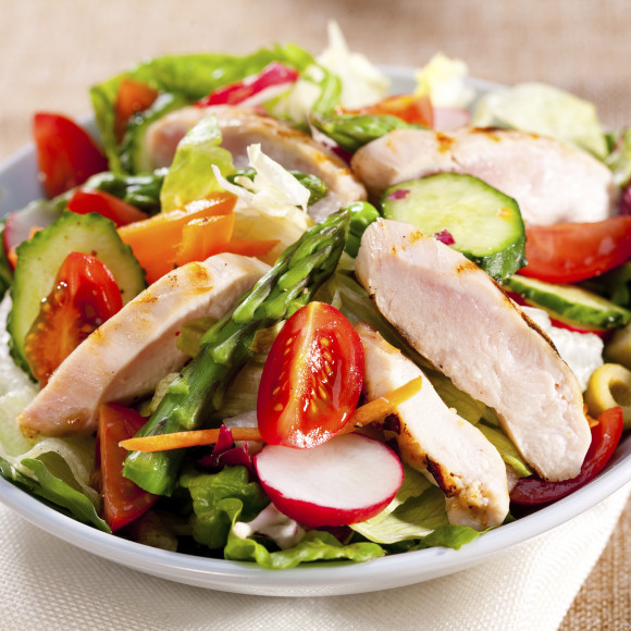Sweet Chilli Chicken Salad Recipe | myfoodbook