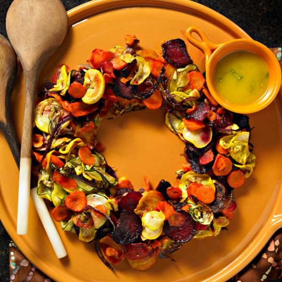 Roasted vegetable wreath recipe myfoodbook perfect christmas roasted vegetable wreath forumfinder Image collections