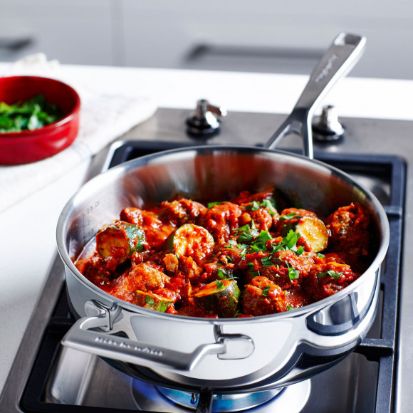 KitchenAId Moroccan Simmered Meatballs with Zucchini