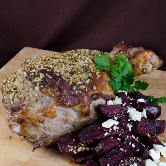 Leg of Lamb with Dukkah Crust Recipe   myfoodbook