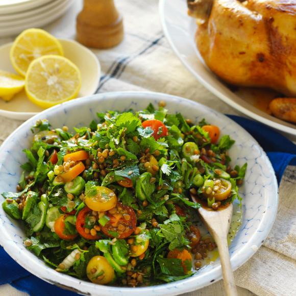 Lentil tabbouleh salad recipe