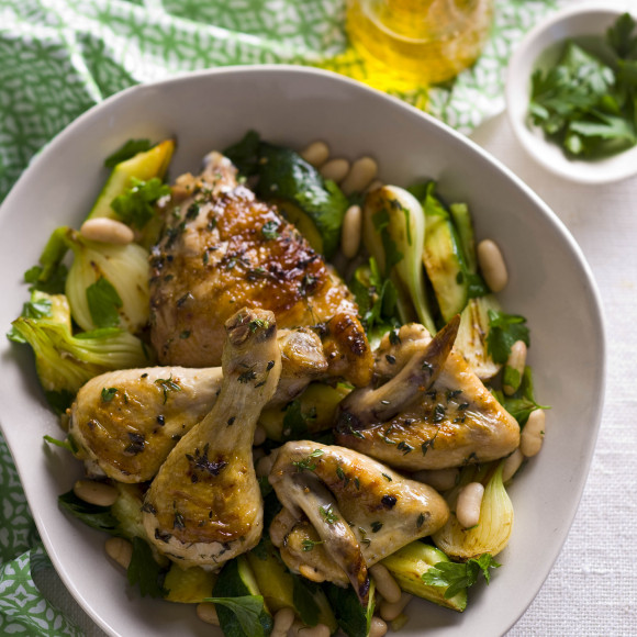 Chargrilled Chicken with Zucchini and Spring Onions