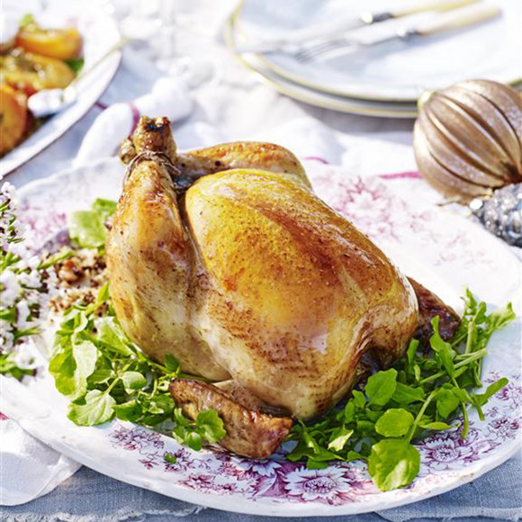 Stout-Glazed Chicken with Quinoa and Nut Stuffing