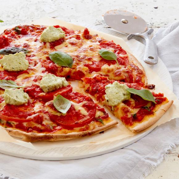 Margherita Pizza with Pesto Ricotta